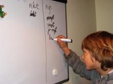 oefenen met een spellingcategorie